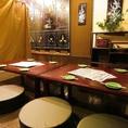 【2F】40席のお座敷フロアを仕切り、人数に合わせて使用できます。※写真は8名様席です