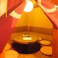 【円卓個室】2Fに1室のみ★8名様までの完全個室★円卓なので、お仲間との飲み会も盛り上がります!