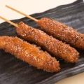 料理メニュー写真味噌串カツ(3本)
