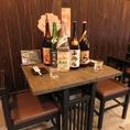 サク飲み、サク飯にはテーブル席もお勧め!