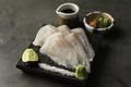 料理メニュー写真幻の高級魚!クエのお刺身