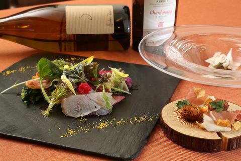 京野菜とフレンチのマリアージュ。たっぷり野菜を使用したヘルシーなお料理をどうぞ。