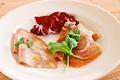 料理メニュー写真パルマ産プロシュートとモルタデッラソーセージの盛り合わせ