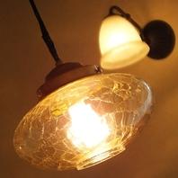 可愛い照明などひとつひとつにこだわりありのインテリア