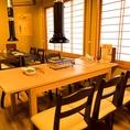 【6名様テーブル席】職場の飲み会や宴会でのご利用がおすすめのお席です。水戸駅近辺で居酒屋をお探しの際はぜひホルモンダイニング 大黒 水戸店をご利用ください♪