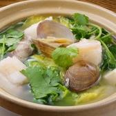 パクチー入り海鮮豆腐土鍋