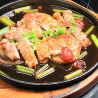 旨みがぎゅっと詰まった県内産の美味しい地鶏料理!