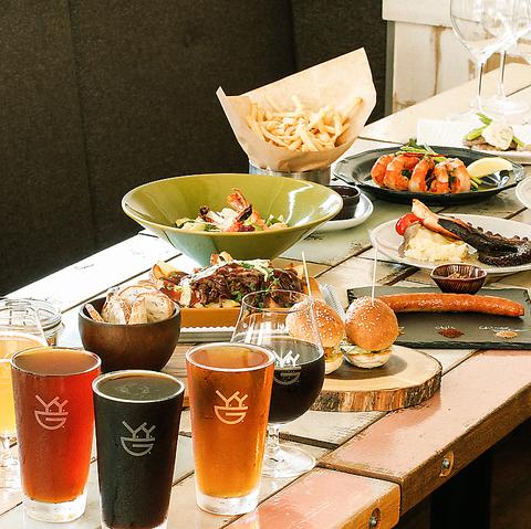 【夜景宴会】人気メニュー含む全7品 クラフトビール飲み放題&メインが選べるスタンダードコース