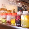 ☆旬のフルーツなどを使った果実酒☆☆季節に応じて期間限定ドリンクあります☆☆