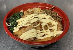 三水苑の豚カルビ丼(マヨ付き)