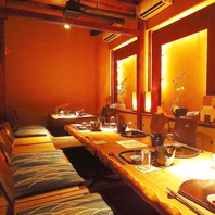 ≪個室≫落ち着いた和空間でお食事を・・・。