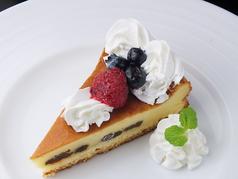 料理メニュー写真自家製チーズケーキ