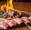 料理メニュー写真溶岩焼き 牛タン塩