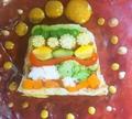 料理メニュー写真夏野菜と海老のテリーヌ