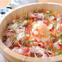 季節を感じる人気の〆メニュー♪海鮮桶盛りひつまぶし