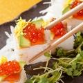 料理メニュー写真スモークサーモンとアボカドの押し鮨
