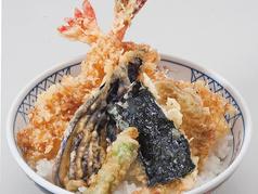 えび天丼(漬物、小鉢、みそ汁付)