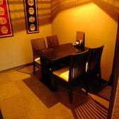 1階の半個室の4名様のテーブル席です。