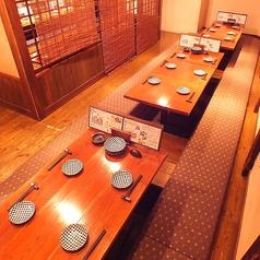 【完全個室】13名までOKの完全個室席!!こちらも完全個室のなので、皆さんでお楽しみ頂けます。色々なお席で楽しんで下さいませ。