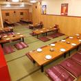 貸切宴会は最大50名様まで可能です。お客様に居心地よくお寛ぎいただける空間をご提供いたします◎会社の各種ご宴会に。