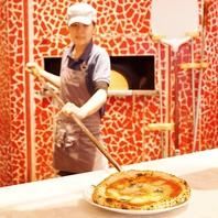 Pizza職人のライブ感溢れるカウンター