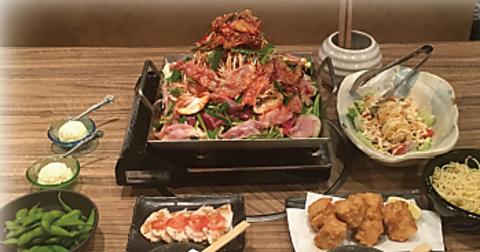 鶏からあげ・チリ鶏鍋も食べられる♪ボリューム◎【全8品】チリ鶏鍋宴会コース 2680円