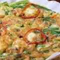料理メニュー写真海鮮チヂミ/キムチチヂミ