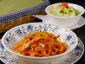 料理メニュー写真ミートソース/ナポリタン/ボンゴレ/タコライススパゲティー/カレースパゲティー/森のきのこのスパゲティー