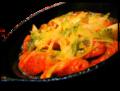 料理メニュー写真腸詰バジルチーズ