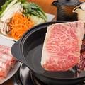 料理メニュー写真A5佐賀牛しゃぶしゃぶorすき焼き