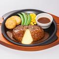 料理メニュー写真チーズINハンバーグ