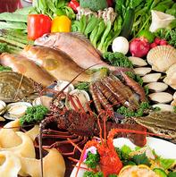 中央市場で仕入れた鮮魚