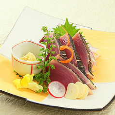 【鰹】刺身/にぎり鮨(3貫)
