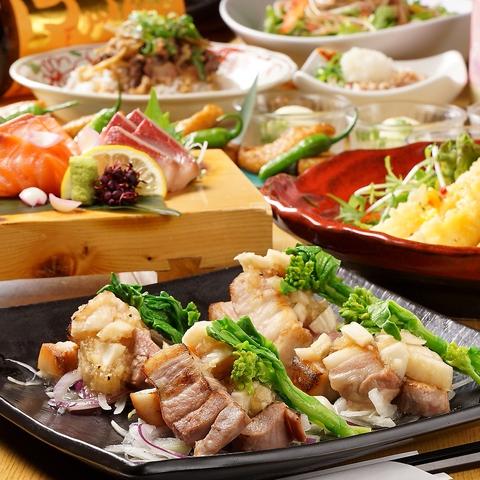 毎日OK!【暁コース】鶏ハラミ炙り焼き等11種8品◆2h飲み放題/4500円⇒2980円(税抜)