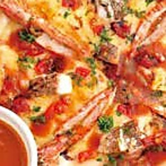 車エビと本日の地魚のピザ~地魚のソース M