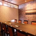 お子様連れでも安心の最大8名様までのテーブル個室!宴会に最適なお得な飲み放題付きコースもご用意しておりますので合わせてご利用ください。(銀座/居酒屋/個室/飲み放題/和食/宴会/接待/海鮮/大人数/団体/日本酒/カニ)