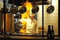 リゾート感をさらに演出するオープンキッチン