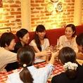雰囲気◎テーブル席では女子会・デート・記念日・誕生日会など各種ご宴会におすすめ!