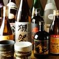 地酒も焼酎も豊富に取り揃えております。
