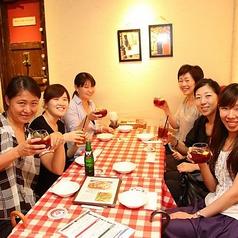 本格イタリアンをテーブル席♪女子会・デート・記念日・誕生日会など各種ご宴会におすすめ!