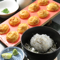 料理メニュー写真明石焼きと生しらす丼のセット