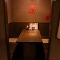 1F:半個室造りのお席です。