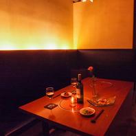 1日1組限定の特別席。完全個室でゆったりとお食事を・・