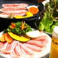 韓国定番のサムギョプサル!もちろんキムチやサンチュも食べ放題!〆には石焼ビビンバ♪心ゆくまでお楽しみください!