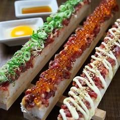 韓国風ユッケ寿司 肉寿司