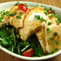料理メニュー写真手造り豆腐とササミの焙煎胡麻ドレバリバリサラダ