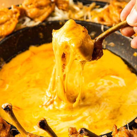 ■OPEN記念■チーズ&お肉のあったかチーズ鍋SNSで大人気♪/肉寿司付き2H 3980→2980円飲み放題
