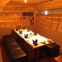 6名~8名様用のテーブル個室席