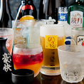 【種類豊富な飲み放題!】60種類以上もの豊富なドリンクを飲み放題メニューにもご用意しております!ハイボールやジンビーム、日本酒、焼酎やカクテルなど、お酒好きの方にはぴったりの品揃え。