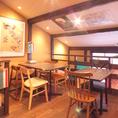 【2階】京町屋作りの店内。隠れ家的存在です★大人デートにも◎